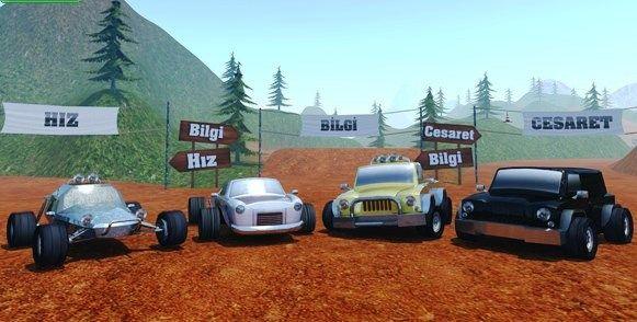 Yarisci Arazi Oyna Araba Yarisi Araba Trafik Isaretleri