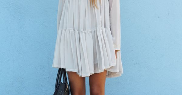 White Boho Dress. Boho Chic. Summer Fashion. Summer Dress. Julie Sarinana Style