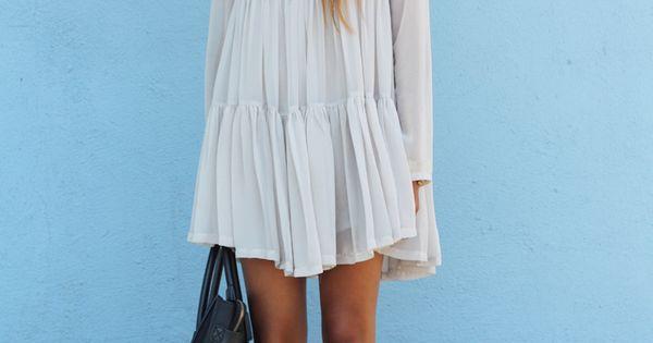 White Boho Dress. Boho Chic. Summer Fashion. Summer Dress. Julie Sarinana Style