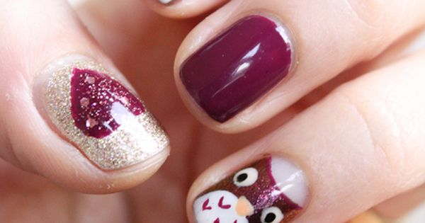 Nail art – Les petits hiboux | Zygomatics journal ABSOLUTELY TRYING THIS