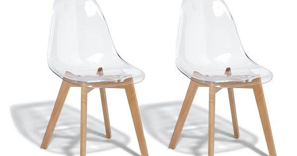 Lot De 2 Chaises Chloe Transparente Gifi 404185x Chaise Transparente Chaise Gifi Chaise