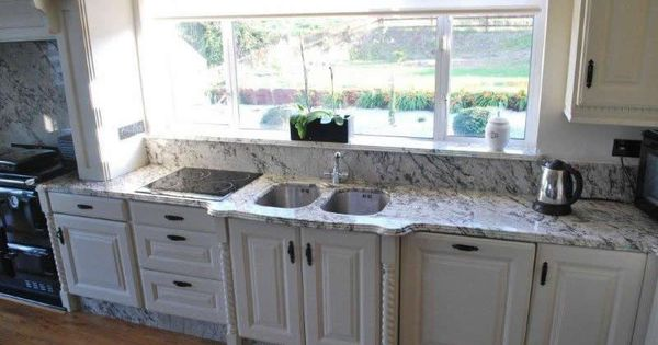 Ice Blue Granite Installed Small Full Bath Ideas