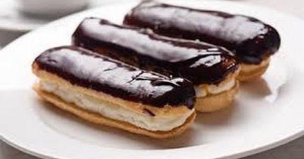 طريقة عمل اصابع الاكلير Chocolate Eclair Recipe Eclair Recipe Dessert Recipes