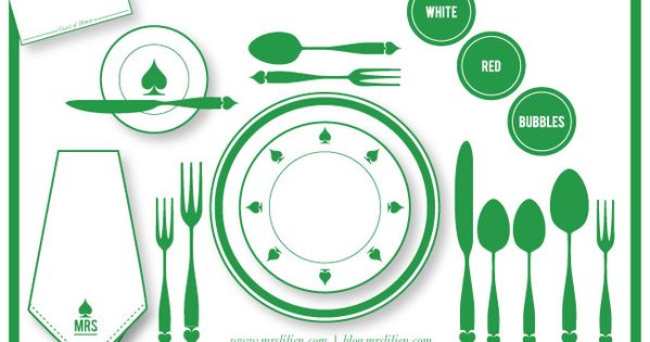 Dinner table layout