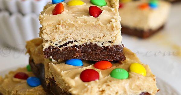 Peanut Butter Whip Brownies : Yummy Bar Recipes | Bar Recipes, Gooey ...