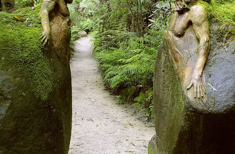 Garden Path ~ Guardians at the gateway ~ William Ricketts Sanctuary in