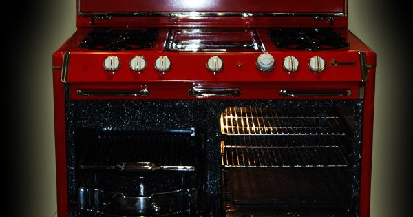 Red Antique Stove Fully Restored Antique Stove For Sale