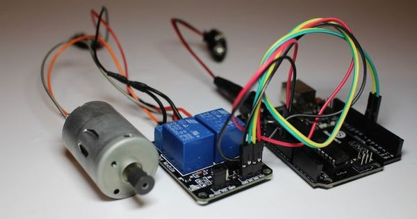 Picture Of Diy Relay Switch Motor Controller Arduino