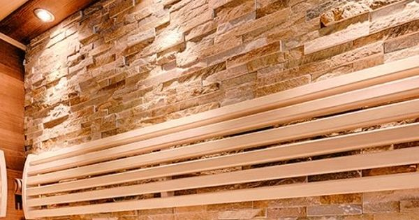 moderne sauna mit verwendung von holz stein und glas sowie indirekter beleuchtung neubau. Black Bedroom Furniture Sets. Home Design Ideas