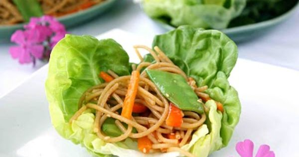 Soba noodles, Lettuce wraps and Noodles on Pinterest