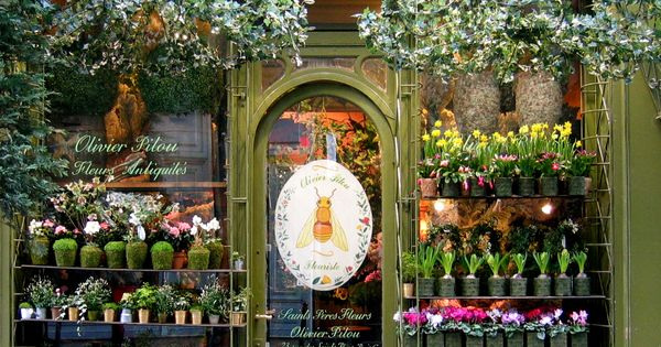 Flower Shop in Paris, France looks inviting