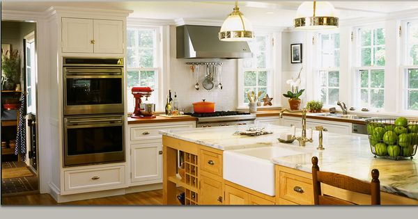 No Upper Cabinets Just Lots Of Windows Kitchen Design Pinterest Kitchens Wood
