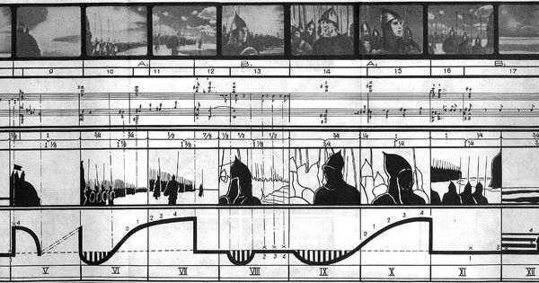 This Is An Eisenstein Story Board For Alexander Niefski On The Music Of Prokofiev