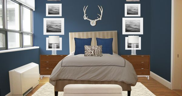 Master Bedroom Decorating Ideas 2014 Tim Likes This Dark Blue Wall