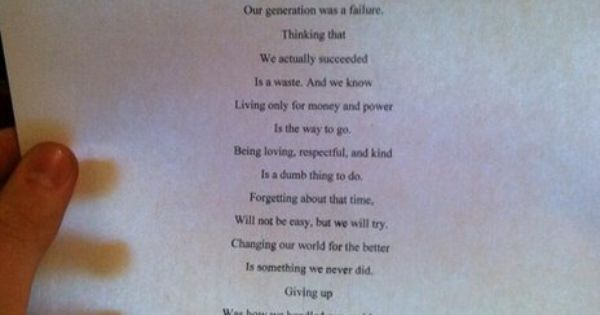 """Our Generation"" - This poem written by a teenager has been retweeted"