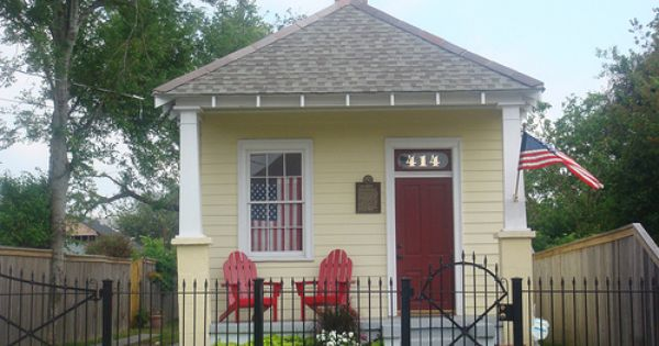Shotgun House With Wrought Iron Fence Little Houses