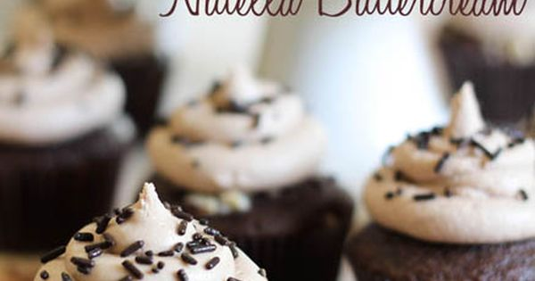 Nutella Cupcakes with Nutella Buttercream. Never eat these Cupcakes nutella is the