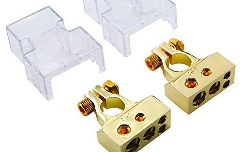 2 4 8 10 Gauge Awg Positive Negative Battery Terminal Connectors Clamp And Shims Pair Battery Terminal Positive And Negative Connectors