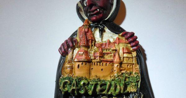 dracula bran castle transilvania romania 3d resin fridge magnet