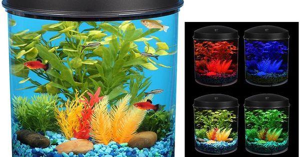 Kollercraft aquarius aquaview 360 aquarium kit with led for Fish tank lights walmart
