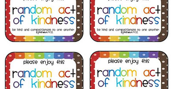 Random acts acts of kindness and printables on pinterest