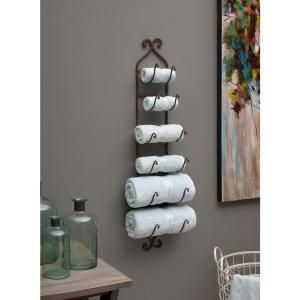 Modona Viola 24 In Wall Mounted Towel Rack In Satin Nickel 6225