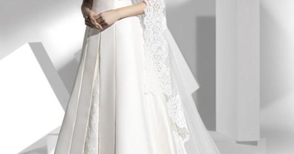 Robe de mariée satin dentelle avec ruban  Robe de mariée 2014 ...