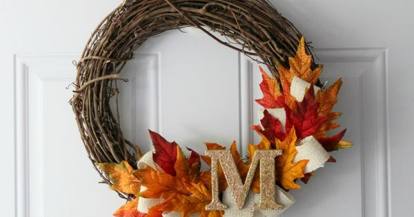 DIY Fall Wreath craft decor