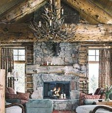 French Country Rustic Fireplace I Love The Distressed Mantel