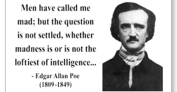 "edgar allan poe essays The black cat"" by edgar allan poe, the narrator, never being identified, states that he is sane he goes on to say that he is kind and respects the fidelity of."