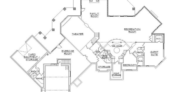 floor plans basements and home plans on pinterest: floor plans basements