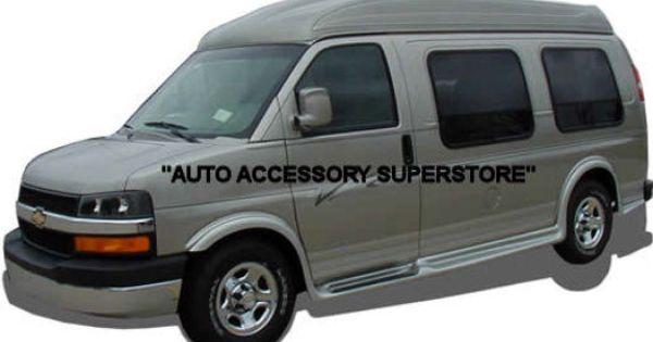 Auto Accessory Superstore 03 14 Gmc Van Fullsize 155 Wheelbase Non Sliding Side Door Running Boards Fullflare Style Chevy Express Chevy Van Van