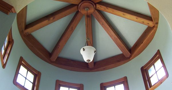 Painting Rough Cedar Ceiling Beams: Ceiling Beams For Cathedral Ceilingwith Curve Wall Beam