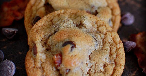 Bacon Chocolate Chip Cookies [For the men in my life] 3/4 c.