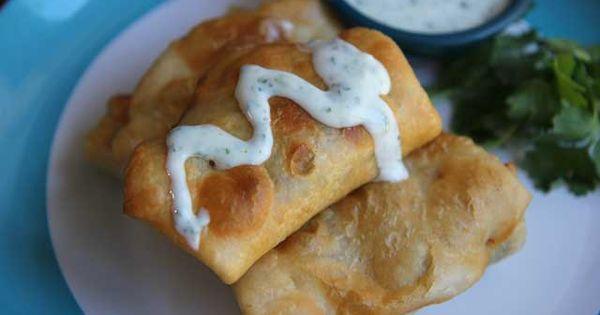 Mini chimichangas! Veggie burritos with beans and cheese ...
