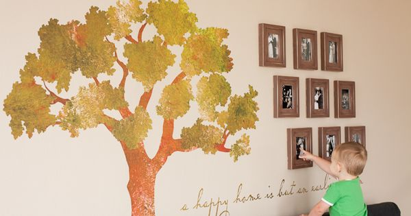 Stencils are an easy way to create your own wall mural for Design your own mural