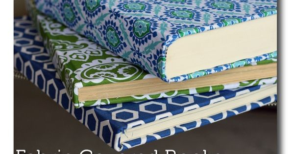 Mod Podge Fabric Covered Books. This is an easy and fun project