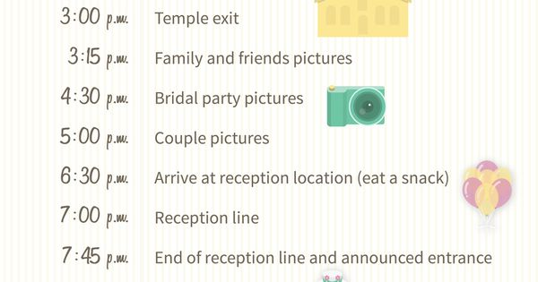 Wedding Day Timeline 2pm Ceremony: How To Build Your Wedding Day Timeline