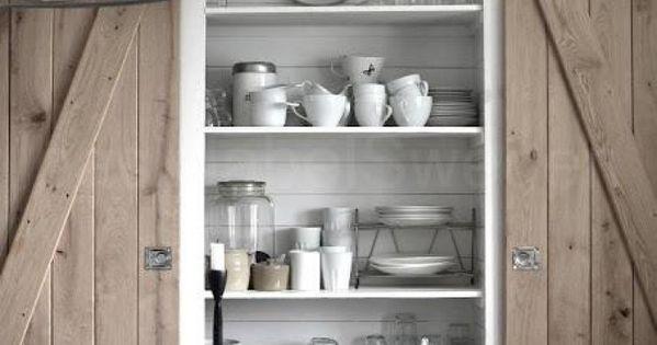 Prachtige houten keuken schuifdeuren pinterest keuken schuifdeuren en keukens - Kombuis keuken ...