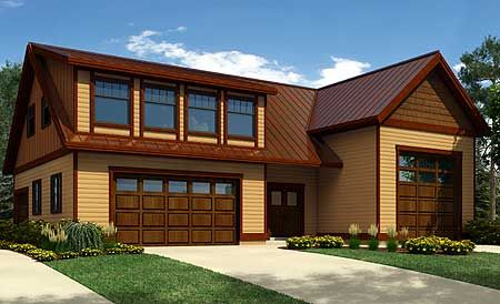 Plan 9832sw Rv Garage Plan With Shed Dormer Carriage House Plans Country Style House Plans Modern Contemporary House Plans Modern house plan with rv garage
