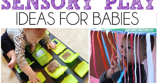 15 Sensory Play Ideas For Babies - Includes a ton of easy