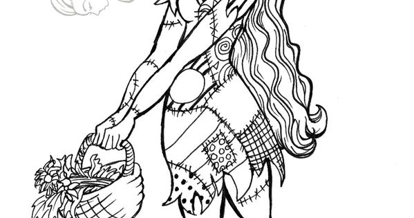 The nightmare before christmas sally coloring page the for Sally nightmare before christmas coloring pages