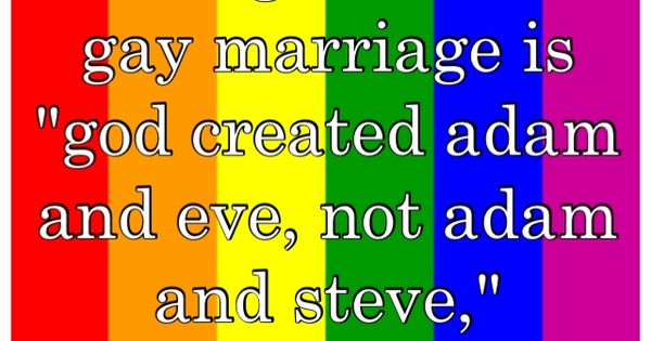 good arguments against gay marriage