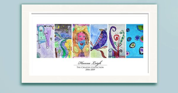Image Of Children S Artwork Display Panel Poster W 6 Works Of Art With Images Childrens Artwork Art Display Kids Save Kids Artwork