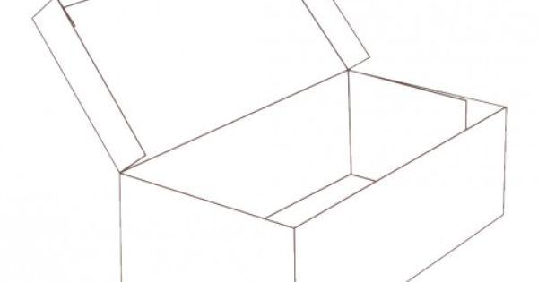 hinged lid shoe box shape
