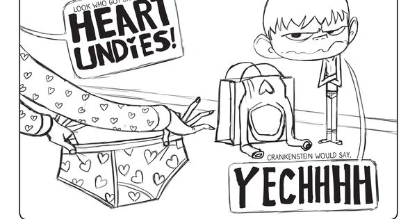a crankenstein valentine coloring page