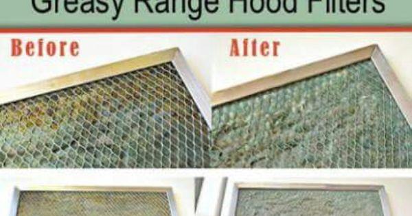 Cleaning Range Hood Filters Cleaning Range Hood