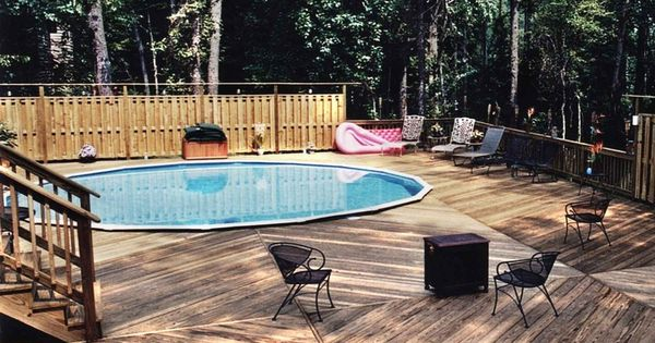 Above ground pool decks with privacy related image with Above ground pool privacy