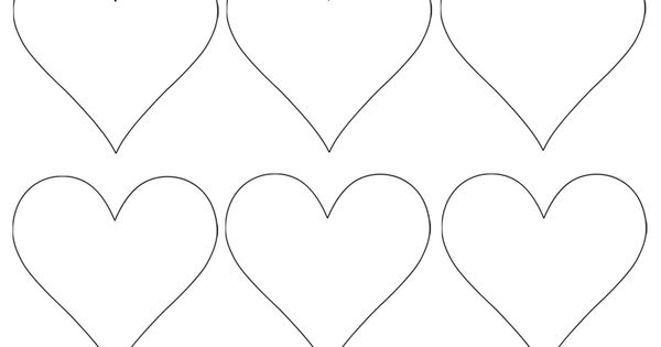 Heart Shapes To Print And Cut Out