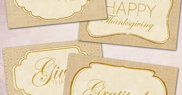Thanksgiving tag, printable tag, Vintage Tags, digital download, label sheet with classic